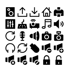 Multimedia icons 2 vector