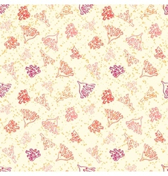 Nautical pattern with corals on sandy beach vector