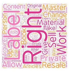 OGPLR private label rights 101 text background vector image
