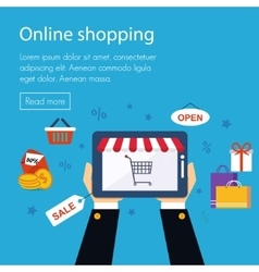 On line store shopping vector image