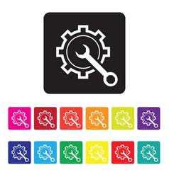 Online diagnosis icon vector
