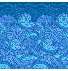 Ornate doodle sea background vector