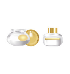 pair of fragrant face cream in beautiful vector image