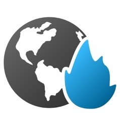 Planet Flame Gradient Icon vector image