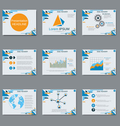 professional business presentation vector image