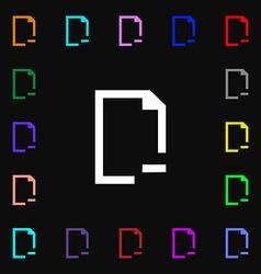Remove Folder icon sign Lots of colorful symbols vector