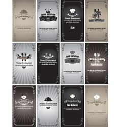 Retro cards vector