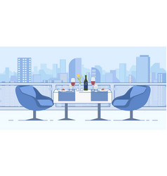 romantic date at restaurant rocityscape view vector image