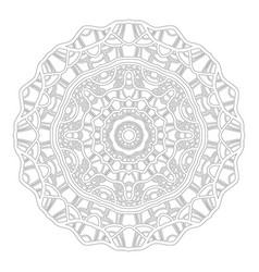 Round ornament for coloring books black and white vector