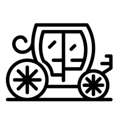 Royal carriage icon outline style vector