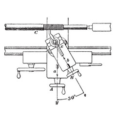 screw cutting device using lathe vintage vector image