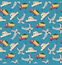 seamless pattern transport pattern vector image