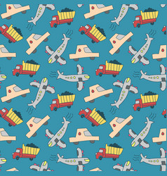 seamless pattern transport seamless pattern with vector image