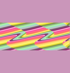 set covers with optical illusion psychedelic vector image