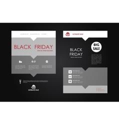 Set of brochure poster design templates in sale vector image