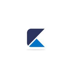 shape triangle square c logo vector image