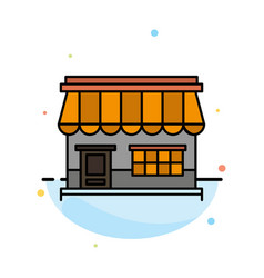 shop online market store building abstract flat vector image