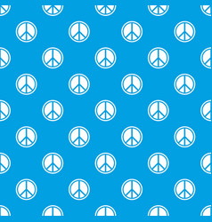 sign hippie peace pattern seamless blue vector image