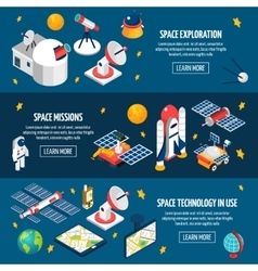 Space Exploration Banner vector