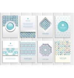 Stock set of brochures in vintage style vector image