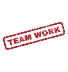 Team work rubber stamp vector