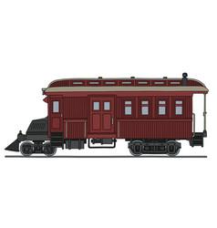 vintage motor railcar vector image