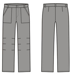 Work pants vector image