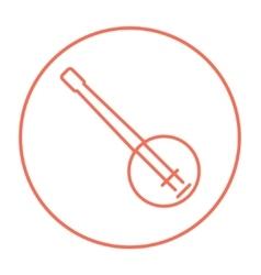 Banjo line icon vector image vector image