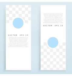 banners and circles vector image vector image