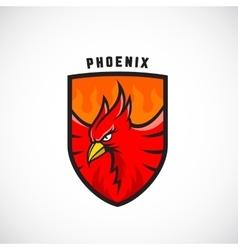 Bird in a Shield Emblem or Logo Template vector image vector image
