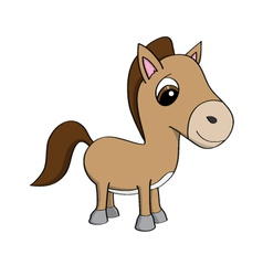 Cartoon of a cute little pony vector image vector image