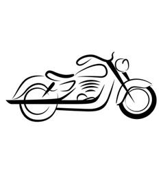 chopper motorcycle vector image vector image
