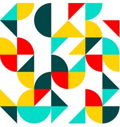 Flat shapes pattern vector