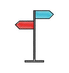 scribble traffic sign cartoon vector image
