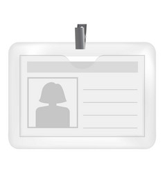 badge with a silhouette of a woman mockup vector image