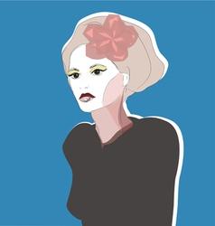 Beautiful Hand Drawn Woman Portrait vector image