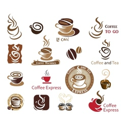 Coffee and Tea design elements vector image vector image