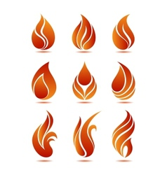 Flame symbols vector image vector image