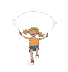 Girl With Rope vector image