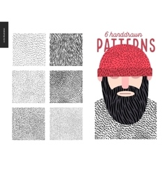 Handdrawn patterns set vector image vector image
