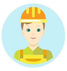 icon man builder in a flat style image on vector image