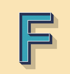 Letter f retro text style fonts concept vector