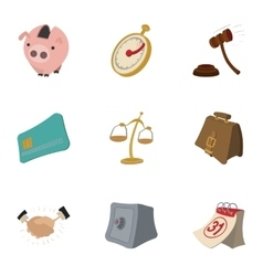 Marketing icons set cartoon style vector image vector image