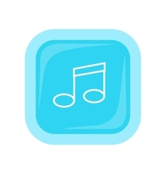 Musical Note Icon In Flat Style Design vector image vector image
