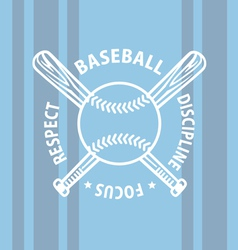 baseball focus vector image vector image