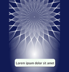 blue abstract flyer template poster with star vector image vector image