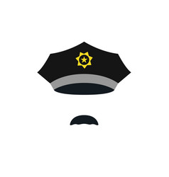 head of policeman with cap people avatar vector image