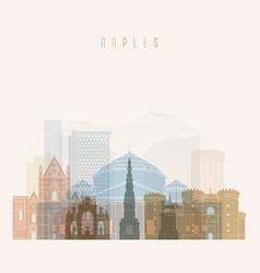 naples skyline detailed silhouette vector image