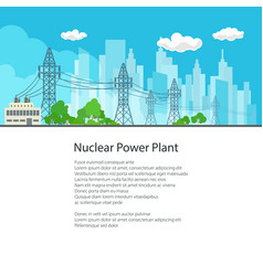 poster electric power transmission vector image vector image