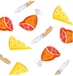 products and knife vector image